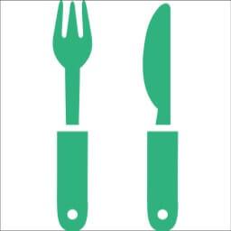 フォークとナイフのレストランマークのアイコン素材 ヤミツキマツモト